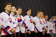 Bratislava, Slovakia, 11-14 November, 2010 : 1st Master`s World Cup In Street & Ball Hockey stock image