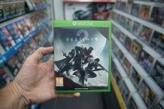 Destiny 2 videogame on Microsoft XBOX One console Royalty Free Stock Photo
