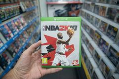 NBA 2K18 videogame on Microsoft XBOX One console Royalty Free Stock Photography