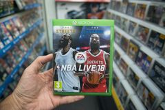 NBA Live 18 videogame on Microsoft XBOX One console Royalty Free Stock Photo