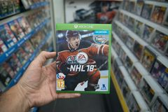 NHL 18 videogame on Microsoft XBOX One console Stock Images