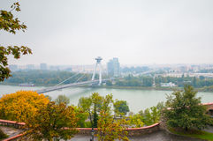 BRATISLAVA, SLOVAKIA - OCTOBER 16, 2015: New bridge( Novy Most), Royalty Free Stock Photo