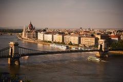 Bratislava, Slovakia - Panoramic View on city over the river stock photography