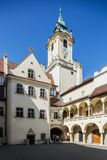Bratislava, Slovakia. Plain of Jesuits with arcades Stock Images
