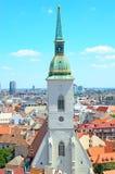 Bratislava, Slovakia, top view Stock Photography