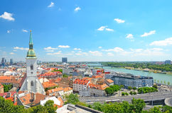 Bratislava, Slovakia. Top view of city Stock Photos