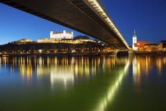 Bratislava Slovakien. Fotografering för Bildbyråer