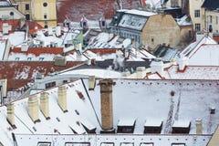 Bratislava Slovakien - Januari 24th, 2016: Sikt av staden Arkivbild