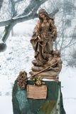 Bratislava Slovakien - Januari 24th, 2016: Staty av St Elizabe Royaltyfri Bild