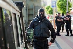 Bratislava, Slovaquie, 2ème Juin 2016 : Reconstruction de police de photos stock