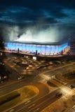 Bratislava, Slovaquie - 3 mars 2019 - premier match sur le nouveau stade de football - les obus fumigènes ont employé image stock