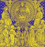 BRATISLAVA, SLOVAQUIE, NOVEMBRE - 21, 2016 : La lithographie de la trinité sainte dans Missale Romanum images libres de droits