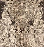 BRATISLAVA, SLOVAQUIE, NOVEMBRE - 21, 2016 : La lithographie de la trinité sainte dans Missale Romanum photographie stock