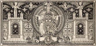 BRATISLAVA, SLOWAKIJE, NOVEMBER - 21, 2016: De lithografie van Heilige Drievuldigheid Royalty-vrije Stock Foto
