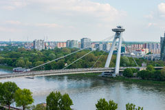Bratislava SNP bridge Royalty Free Stock Photo
