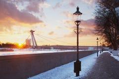 Bratislava SNP bro Royaltyfria Foton
