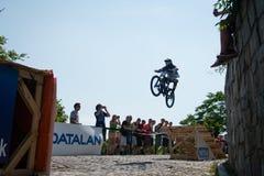 Bratislava stad sluttande 2013 Arkivfoto