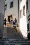Bratislava-Stadt abwärts 2013 Stockbild