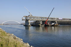 The Bratislava Stary most bridge demounting Stock Photo