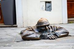 Bratislava statue Stock Photos
