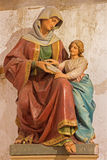 Bratislava - statue of st. Ann by Ludovit Staudinger in f St. Ann gothic side chapel from 19. cent. in st. Martin cathedral. Royalty Free Stock Photos