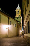 Bratislava street at night Stock Photography