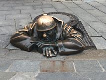 Bratislava Street Sculpture royalty free stock photos