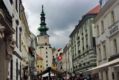 Bratislava. The streets of the old town of Bratislava Royalty Free Stock Image
