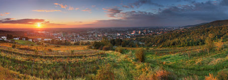Bratislava at sunrise Stock Photos