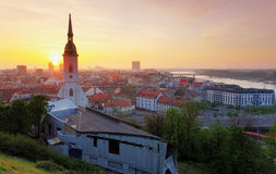 Bratislava at sunrise Royalty Free Stock Photo