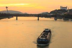 Bratislava at sunset Stock Photo