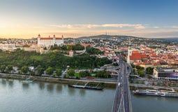 Bratislava at Sunset, Slovakia Royalty Free Stock Images