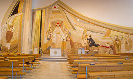 Free Bratislava - The Mosaic (150 M2) With The Resurrected Christ Among The Apostles In Centre In Saint Sebastian Cathedral Royalty Free Stock Photos - 46857698