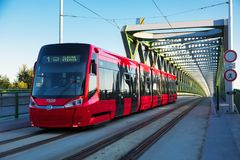 Free Bratislava Tram Bridge Royalty Free Stock Photography - 108031547
