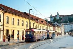 Bratislava tram Stock Photo