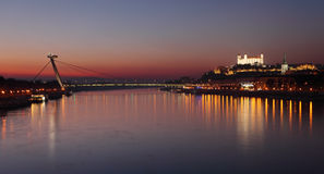 Bratislava at twilght Royalty Free Stock Photo