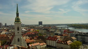 Bratislava - view from the castle. Bratislava is a city rich in monuments, many of which are located in the Old City royalty free stock photography