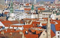 Bratislava - vista dal castello immagini stock