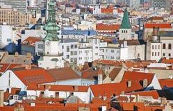 Bratislava - vista dal castello immagine stock libera da diritti