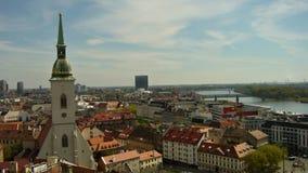 Bratislava - vista do castelo Fotografia de Stock Royalty Free