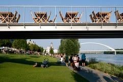 Bratislava - waterfront Danube Stock Photos
