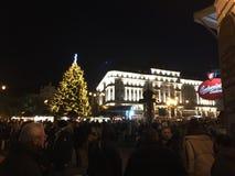 Bratislava am Weihnachten Stockfotografie