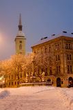 Bratislava - winter morning in snow Royalty Free Stock Images