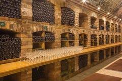 Bratislava - wnętrze callar wielki Słowacki producent wino. Obraz Stock
