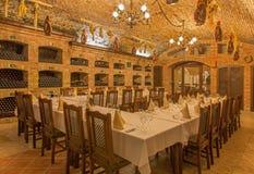 Bratislava - wnętrze wino loch wielki Słowacki producent  Obraz Royalty Free