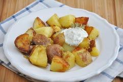 Bratkartoffeln, German Roast Potatoes Stock Photos