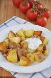 Bratkartoffeln, German Roast Potatoes Stock Images