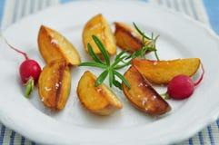 Bratkartoffeln, patatas alemanas de la carne asada Imágenes de archivo libres de regalías