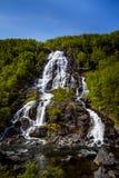 Bratlandsdalen vattenfall Fotografering för Bildbyråer