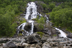 Bratlandsdalen waterfall Royalty Free Stock Photos
